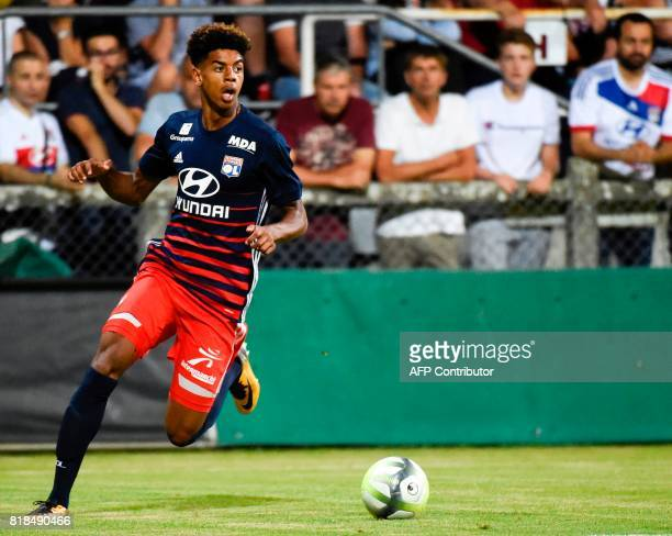 Lyon's forward Willem Geubbels controls the ball during a friendly football match between Olympique Lyonnais and Ajax Amsterdam on July 18 2017 at...
