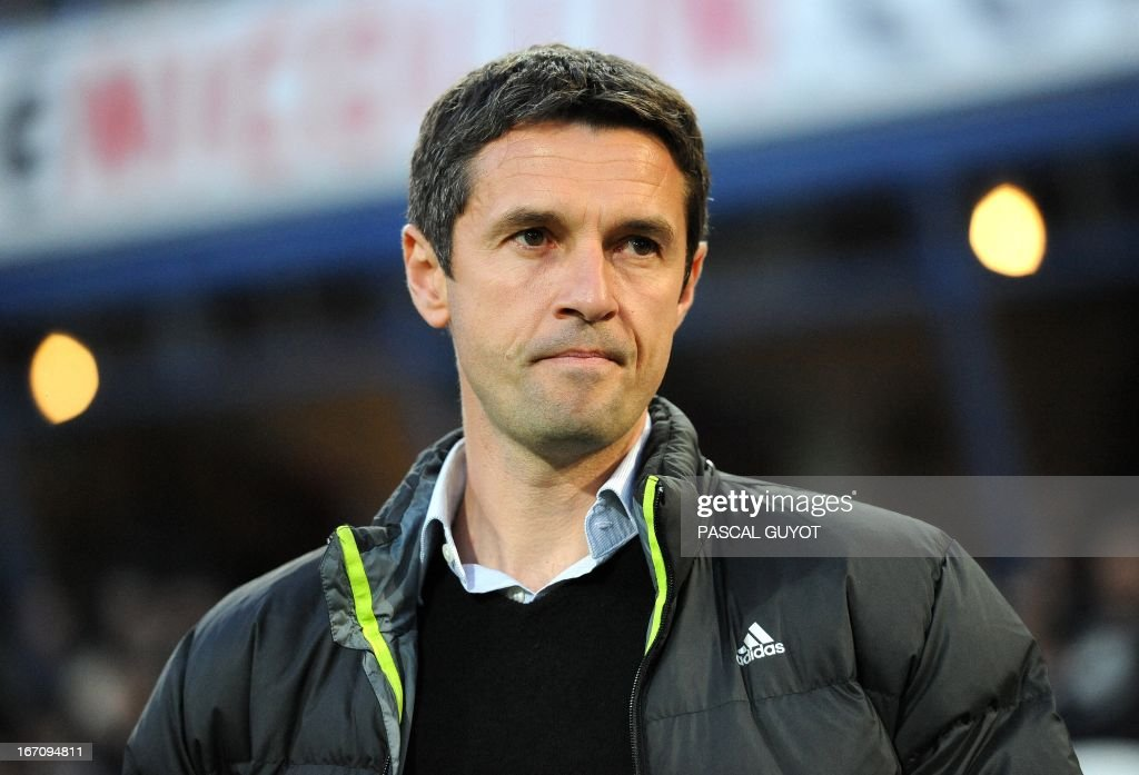 Lyon's French coach Remi Garde attends to the French L1 football match Montpellier vs Lyon on April 19, 2013 at the Mosson stadium in Montpellier, southern France.
