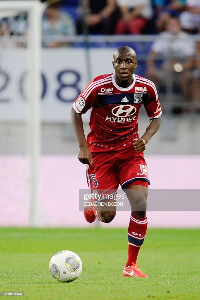 Lyon's French midfielder <a gi-track='captionPersonalityLinkClicked' href=/galleries/search?phrase=Gueida+Fofana&family=editorial&specificpeople=4309091 ng-click='$event.stopPropagation()'>Gueida Fofana</a> controls the ball during the French L1 football match between Sochaux (FCSM) and Lyon (OL) on August 16, 2013, at the August Bonal Stadium in Montbeliard, eastern France.