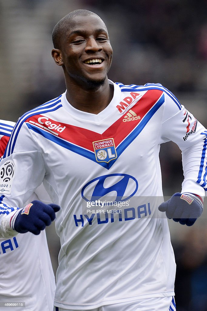 Lyon's French midfielder <a gi-track='captionPersonalityLinkClicked' href=/galleries/search?phrase=Gueida+Fofana&family=editorial&specificpeople=4309091 ng-click='$event.stopPropagation()'>Gueida Fofana</a> reacts after he scored a goal during the French L1 football match between Lyon (OL) and Ajaccio (ACA) on February 16, 2014 at the Gerland stadium in Lyon central France.