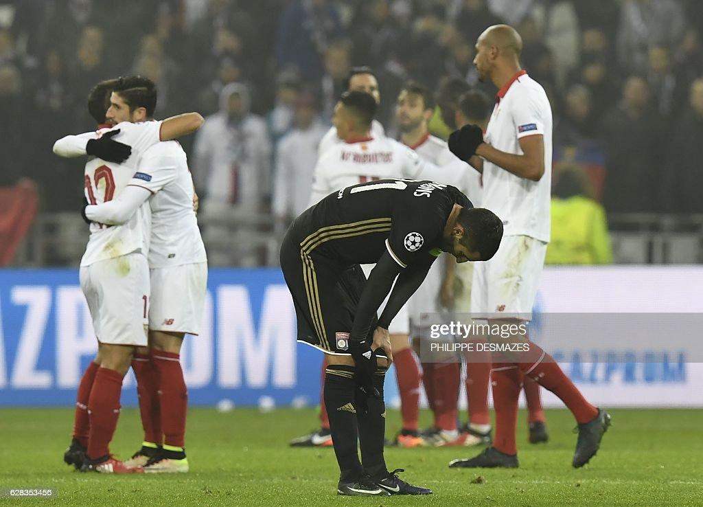 Olympique Lyonnais v Sevilla FC - UEFA Champions League