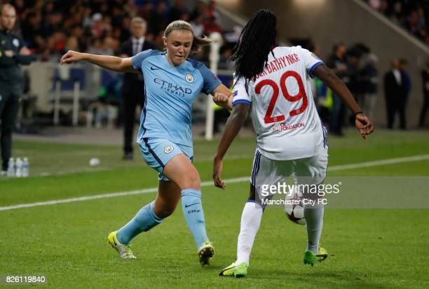 Lyon's Griedge M'Bock Bathy and Manchester City's Georgia Stanway