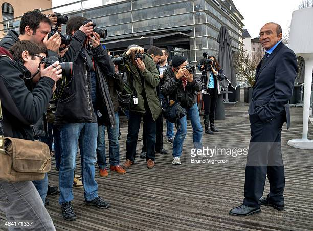 Lyon's mayor and socialist party's candidate for the March 2014 mayoral elections in Lyon Gerard Collomb poses during a mayoral elections press...