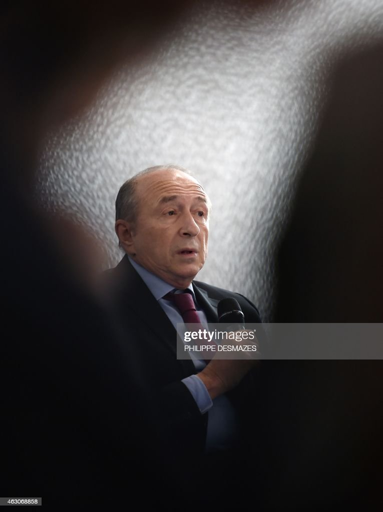 Lyon's mayor <a gi-track='captionPersonalityLinkClicked' href=/galleries/search?phrase=Gerard+Collomb&family=editorial&specificpeople=672969 ng-click='$event.stopPropagation()'>Gerard Collomb</a> speaks during a press conference to present the new Lyon Metropolis on February 9, 2015 in Lyon, southeastern France. Since January 1, 2015, the Lyon Urban Community (District) gave way to the Lyon Metropolis made up by 59 municipalities of the Lyon region and chaired by Lyon's mayor <a gi-track='captionPersonalityLinkClicked' href=/galleries/search?phrase=Gerard+Collomb&family=editorial&specificpeople=672969 ng-click='$event.stopPropagation()'>Gerard Collomb</a> .