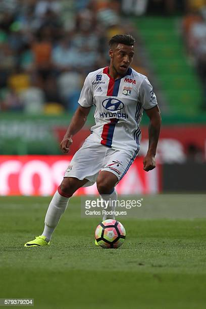 Lyon's midfielder Corentin Tolisso during the Friendly match between Sporting CP and Lyon at Estadio Jose Alvalade on July 23 2016 in Lisbon Portugal