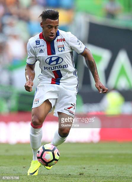 Lyon's midfielder Corentin Tolisso in action during the Pre Season Friendly match between Sporting CP and Lyon at Estadio Jose Alvalade on July 23...