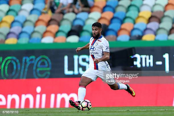 Lyon's midfielder Nabil Fekir during the Friendly match between Sporting CP and Lyon at Estadio Jose Alvalade on July 23 2016 in Lisbon Portugal