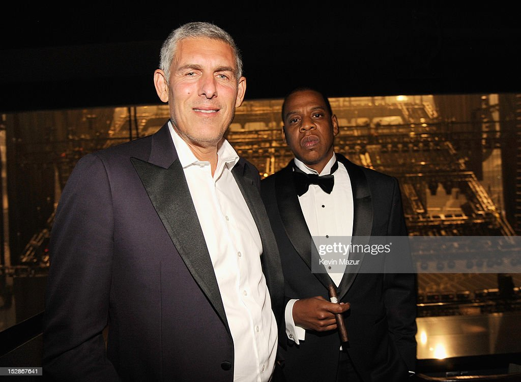 <a gi-track='captionPersonalityLinkClicked' href=/galleries/search?phrase=Lyor+Cohen&family=editorial&specificpeople=700147 ng-click='$event.stopPropagation()'>Lyor Cohen</a> and <a gi-track='captionPersonalityLinkClicked' href=/galleries/search?phrase=Jay-Z&family=editorial&specificpeople=201664 ng-click='$event.stopPropagation()'>Jay-Z</a> attend the grand opening of the 40/40 Club at Barclays Center on September 27, 2012 in the Brooklyn borough of New York City.