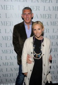 Lyor Cohen and Tory Burch attend Christie's Green Auction after party hosted by Graydon Carter and La Mer at The Monkey Bar on March 29 2011 in New...
