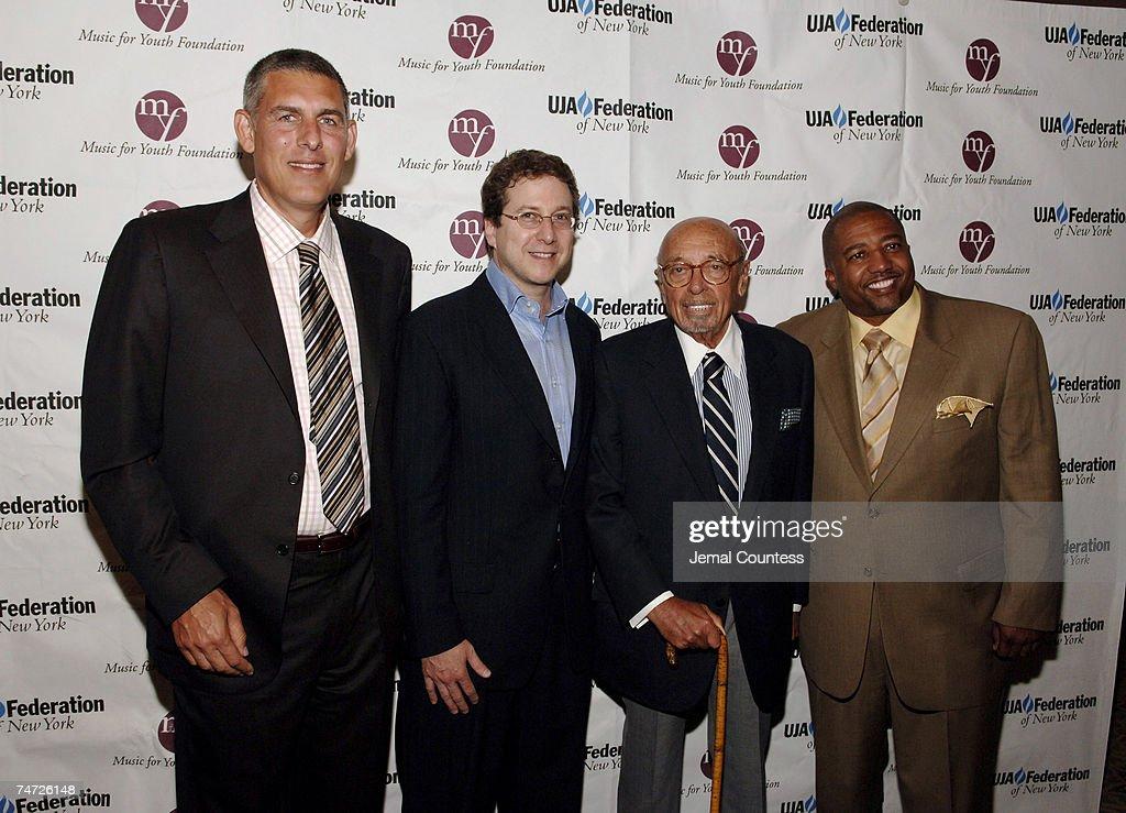 Lyor Cohen, Richard Blackstone, Ahmet Ertegun and Kevin Liles at the The Pierre Hotel Ballroom in New York City, New York