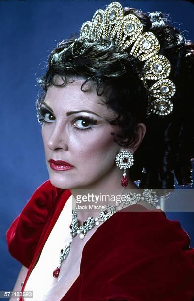 Lyriccoloratura soprano Anna Moffo photographed in costume as 'Tosca' in 1977