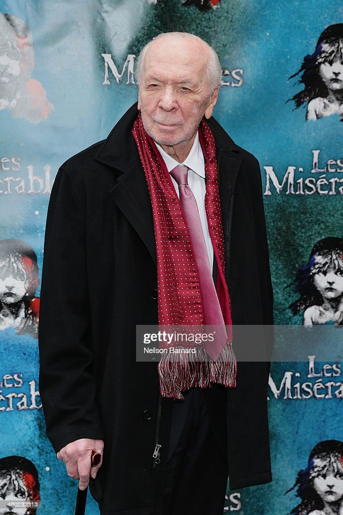 Lyricist Herbert Kretzmer attends the opening night of Cameron Mackintosh's new production of Boublil and Schonberg's 'Les Miserables' on Broadway at The Imperial Theatre on March 23, 2014 in New York City.