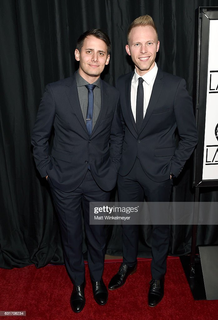 Lyricists Benj Pasek and Justin Paul attend the 42nd annual Los Angeles Film Critics Association Awards at InterContinental Los Angeles Century City on January 14, 2017 in Los Angeles, California.