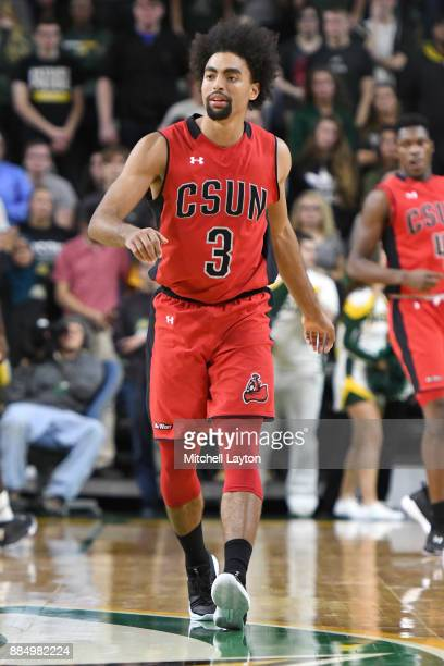 Lyrik Shreiner of the Cal State Northridge Matadors looks on during a college basketball tournament against the George Mason Patriots at the Eagle...