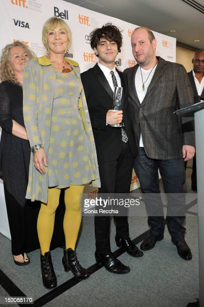 Lyse Lafontaine Filmmaker Xavier Dolan winner of the The City of Toronto Canada Goose Award for Best Canadian Feature Film for 'Laurence Anyways' and...