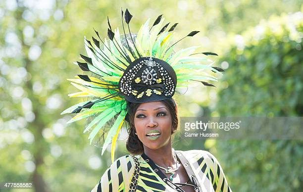Lystra Adams attends Ladies Day on day 3 of Royal Ascot at Ascot Racecourse on June 18 2015 in Ascot England