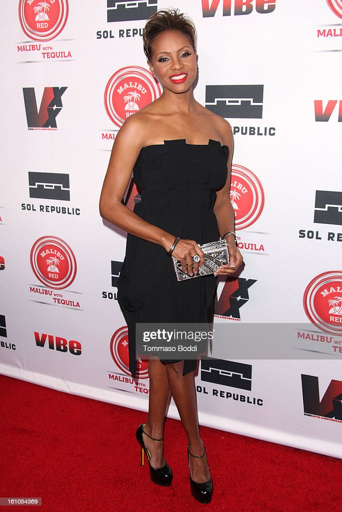 MC Lyte attends the Vibe Magazine 20th anniversary celebration held at the Sunset Tower on February 8, 2013 in West Hollywood, California.