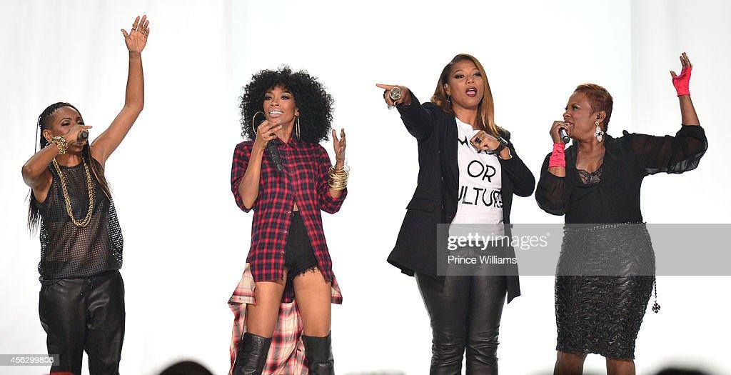 Lyte Brandy Qiueen Latifah and YoYo perform at the BET Hip Hop awards at Boisfeuillet Jones Atlanta Civic Center on September 20 2014 in Atlanta...