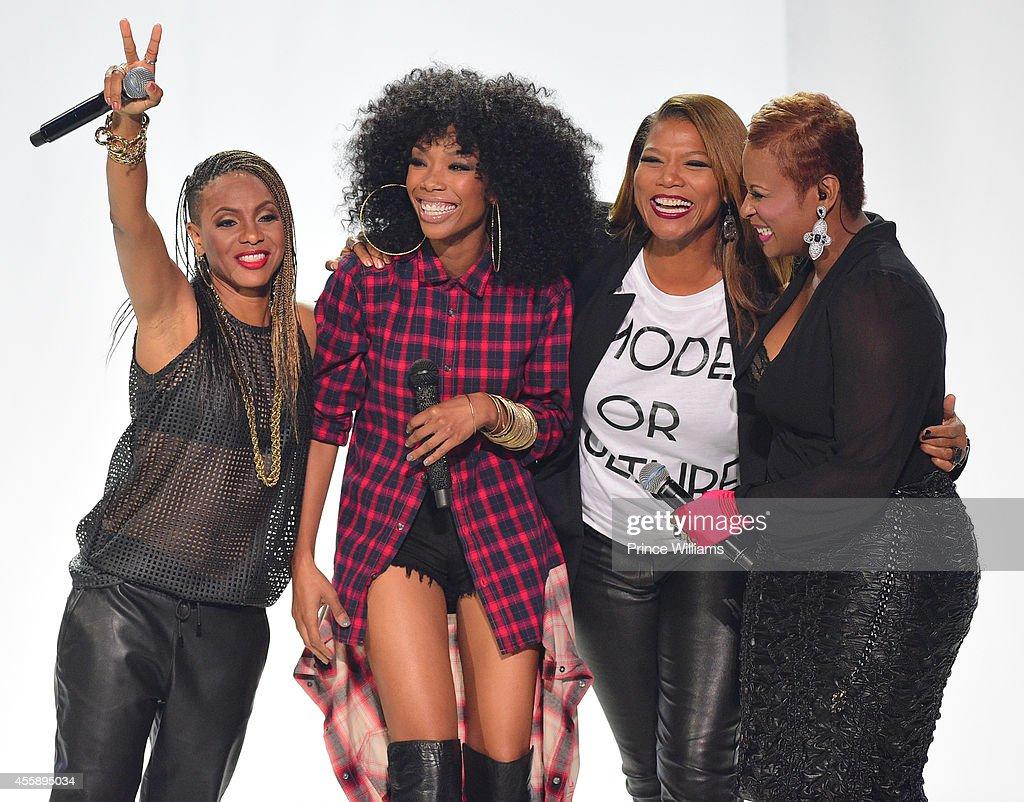 Lyte Brandy Queen Latifah and Yoyo perform at the BET Hip Hop awards at Boisfeuillet Jones Atlanta Civic Center on September 20 2014 in Atlanta...