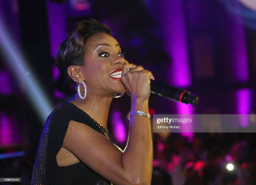 MC Lyte performs at the 2013 BET Networks Inaugural Gala at Smithsonian National Museum Of American History on January 21, 2013 in Washington, United States.