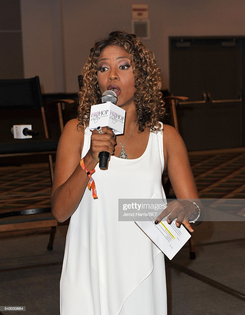 MC Lyte speaks during Women, Wealth, and Relationships presented by HIP HOP SISTERS during the 2016 BET Experience on June 25, 2016 in Los Angeles, California.