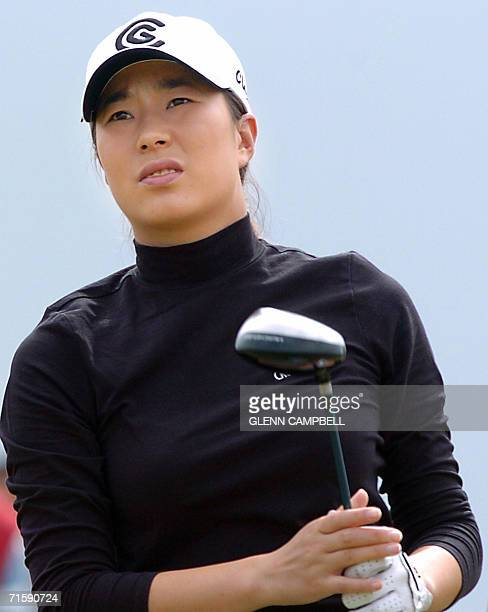 Shi Hyun Ahn from South Korea in the 3rd round at the Women's British Open at Royal Lytham St Annes in Lancashire in northwest England 05 August 2006...