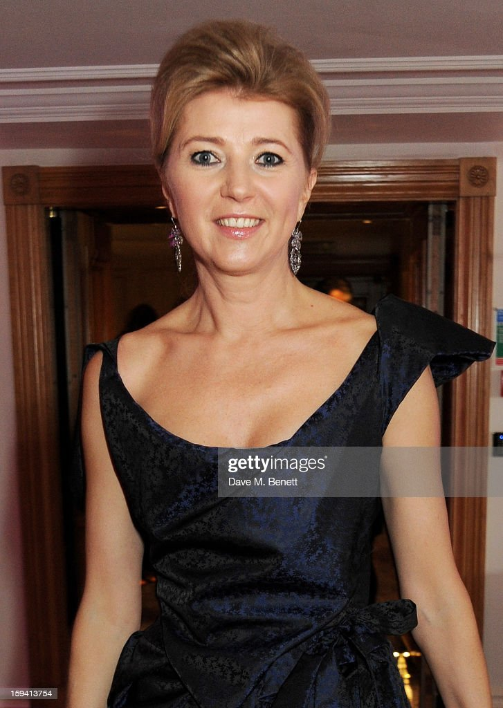 Lyuba Galkina attends a gala evening celebrating Old Russian New Year's Eve in aid of the Gift Of Life Foundation at The Savoy Hotel on January 13, 2013 in London, England.