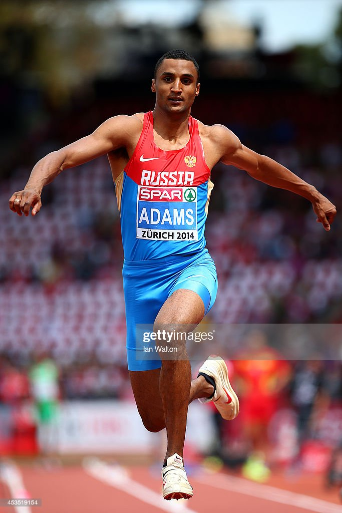 Lyukman Adams of Russia competes in the Men's Triple Jump qualification during day one of the 22nd European Athletics Championships at Stadium Letzigrund on August 12, 2014 in Zurich, Switzerland.