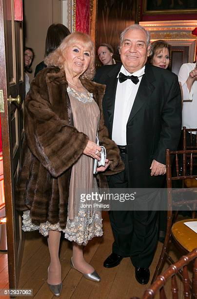 Lyzika and Ami Sagy attends the British Friends' Of The IPO 80th Anniversary Celebration>> at Kensington Palace on February 28 2016 in London England