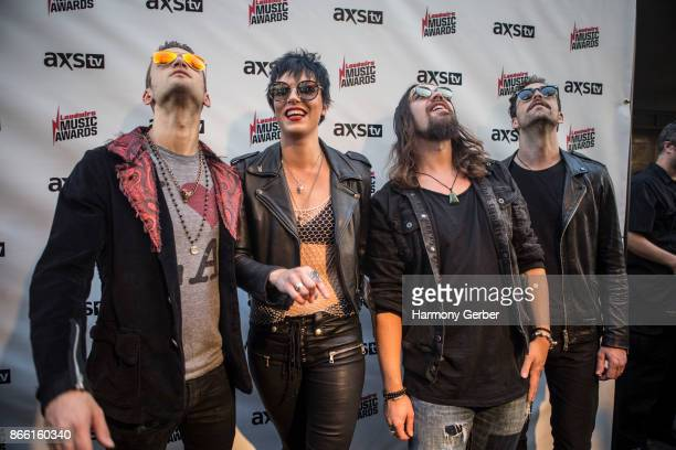 Lzzy Hale and her Hard Rock Band Halestorm attend the Loudwire Music Awards at The Novo by Microsoft on October 24 2017 in Los Angeles California