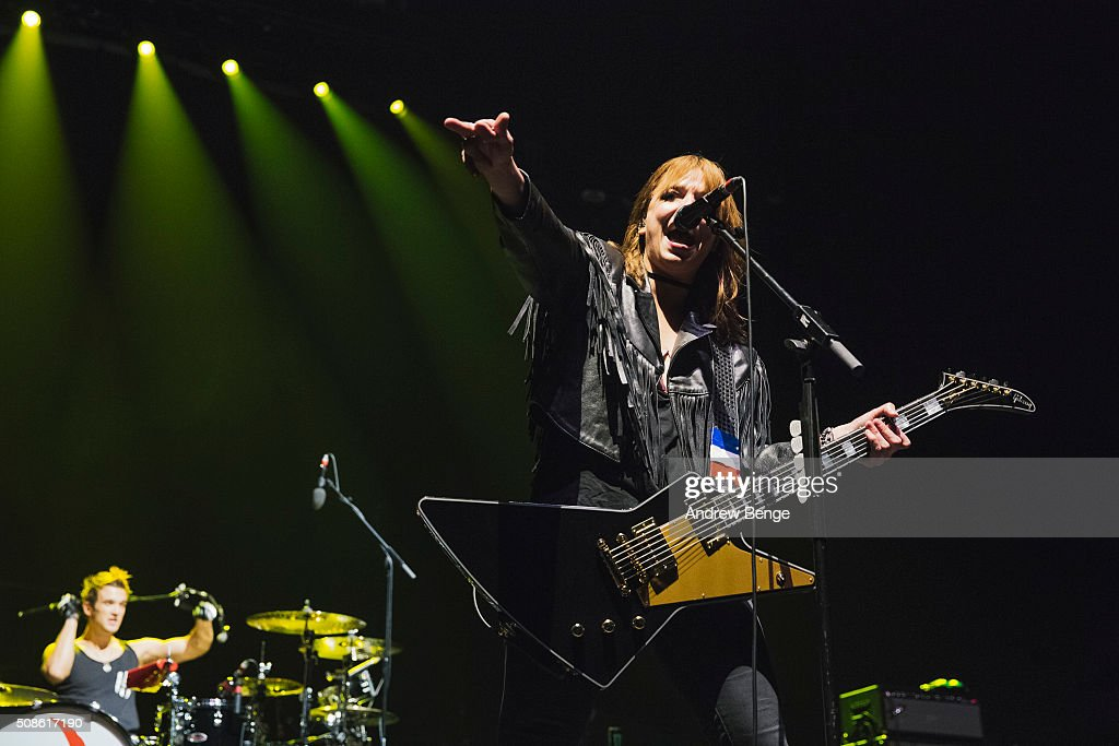 <a gi-track='captionPersonalityLinkClicked' href=/galleries/search?phrase=Lzzy+Hale&family=editorial&specificpeople=5718929 ng-click='$event.stopPropagation()'>Lzzy Hale</a> of Halestorm performs at First Direct Arena on February 5, 2016 in Leeds, England.