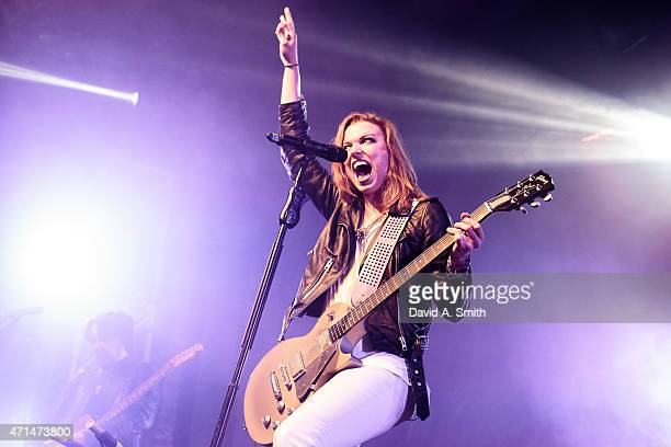 Lzzy Hale of Halestorm performs at Iron City on April 28 2015 in Birmingham Alabama