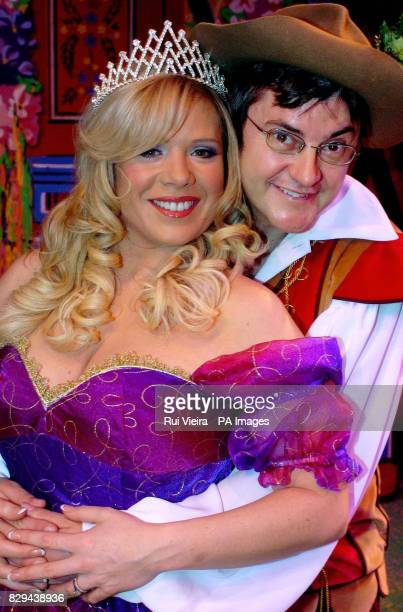 I'm A Celebrity Get Me Out Of Here winner Joe Pasquale and EastEnders actress Letitia Dean during a photocall prior to the first performance of 'Jack...