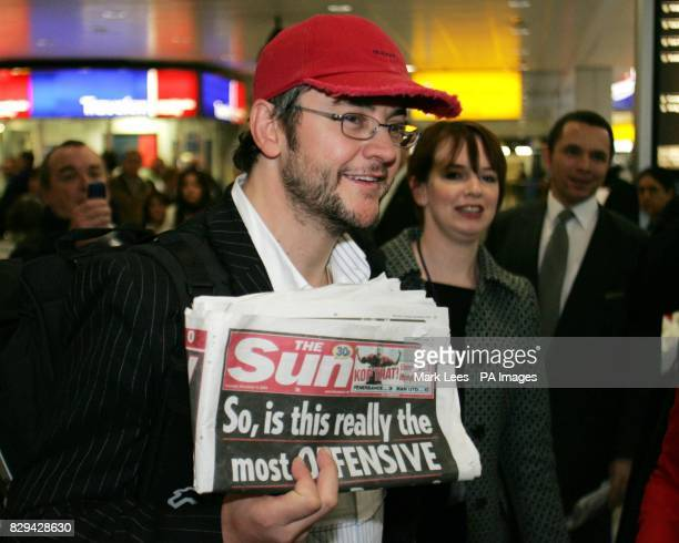 'I'm a CelebrityGet Me out of Here' winner Joe Pasquale arrives back at Heathrow Airport in London after their stint in the Australian jungle reality...
