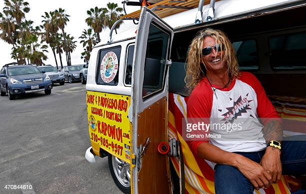 VENICE CA APRIL 22 2015 'I'm all for it' Martin Squires a surf instructor who lives at Venice Beach said of the toplesssunbathing proposal 'Why can a...