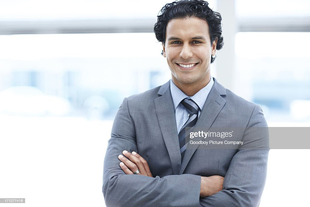 I'm feeling great about myself and my business : Stock Photo