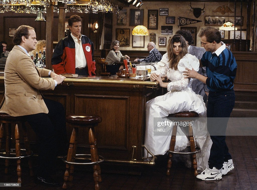 CHEERS 'I'm Getting My Act Together and Sticking It in Your Face' Episode 16 Aired 02/07/91 Pictured Kelsey Grammer as Dr Frasier Crane Ted Danson as...