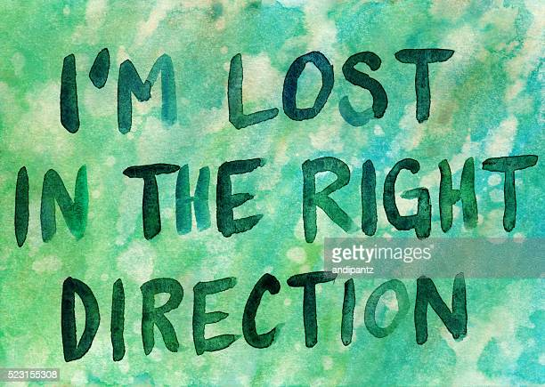 I'm Lost in the Right Direction