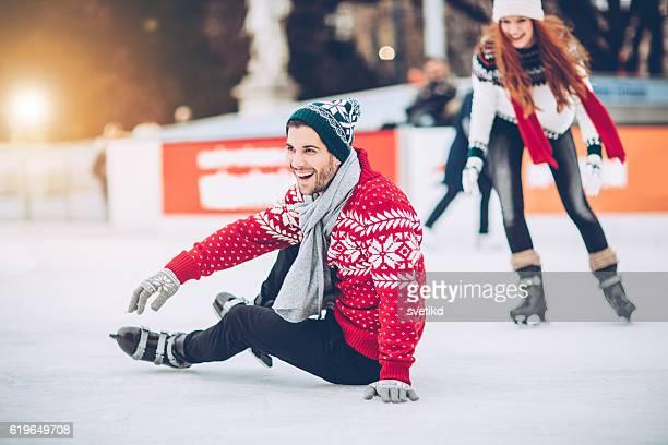 Sto ancora in fase di apprendimento per il pattinaggio sul ghiaccio