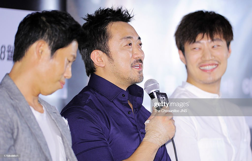 Ma Dong-Seok attends the 'The Flu' press conference at Wangsimni CGV on August 7, 2013 in Seoul, South Korea.