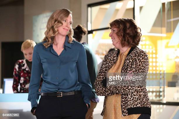 POWERLESS 'I'ma Friend You' Episode 108 Pictured Christina Kirk as Jackie Jennie Pierson as Wendy