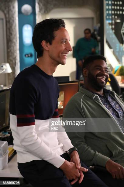 POWERLESS 'I'ma Friend You' Episode 108 Pictured Danny Pudi as Teddy Ron Funches as Ron