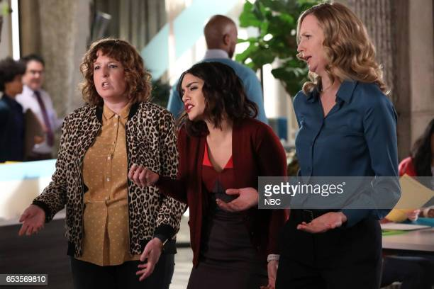 POWERLESS 'I'ma Friend You' Episode 108 Pictured Jennie Pierson as Wendy Vanessa Hudgens as Emily Christina Kirk as Jackie