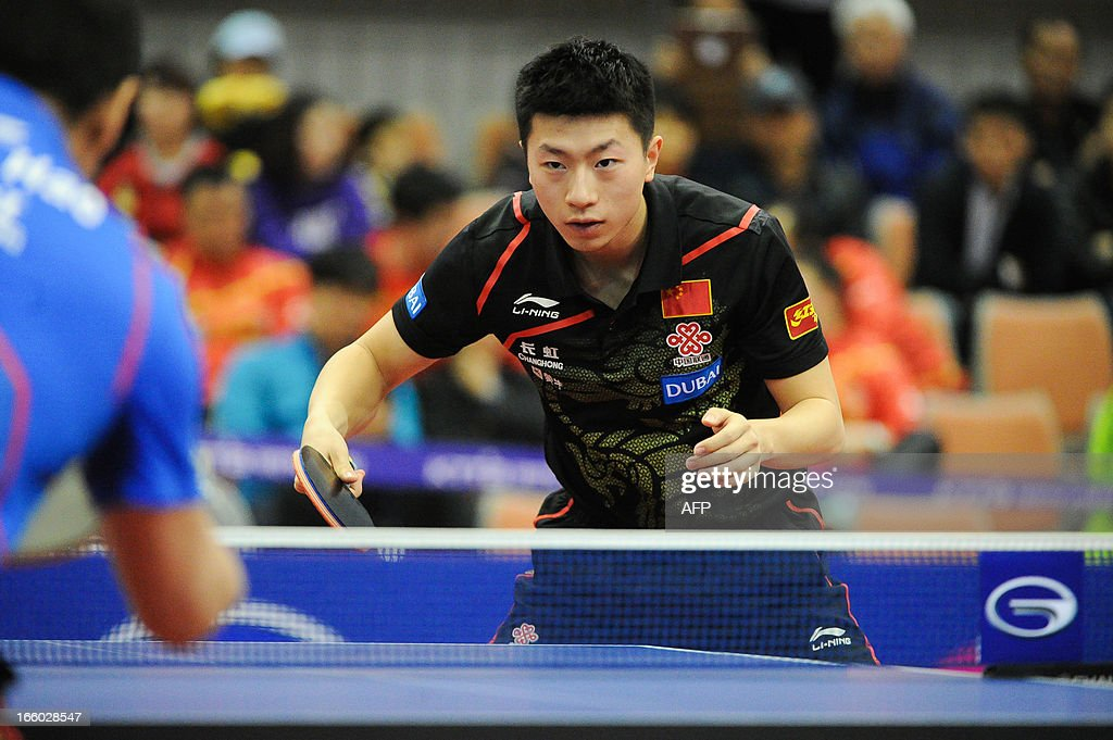 Ma Long of China competes during the men's singles semi-final table tennis match of the ITTF Korea Open in Incheon on April 7, 2013.