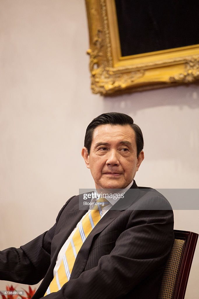 <a gi-track='captionPersonalityLinkClicked' href=/galleries/search?phrase=Ma+Ying-jeou&family=editorial&specificpeople=539998 ng-click='$event.stopPropagation()'>Ma Ying-jeou</a>, Taiwan's president, listens during a news conference at the presidential palace in Taipei, Taiwan, on Monday, May 18, 2015. New rules requiring all food imports from Japan to carry location of origin certifications are a temporary measure, said Ma at the event marking his 7th anniversary in office. Photographer: Billy H.C. Kwok/Bloomberg via Getty Images