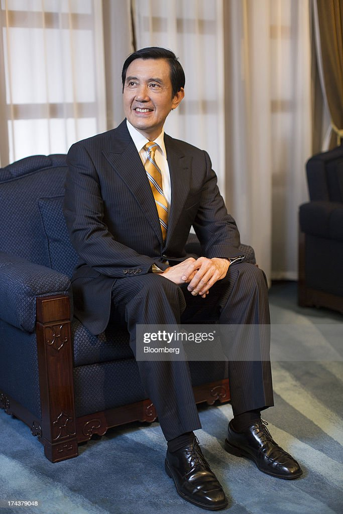 Ma Ying-jeou, Taiwan's president, poses for a photograph after an interview in the presidential palace in Taipei, Taiwan, on Thursday, July 25, 2013. Ma ruled out driving down the Taiwan dollar to boost exports following the currencys rally against the yen and said the government still aims for growth of at least 2 percent this year. Photographer: Jerome Favre/Bloomberg via Getty Images