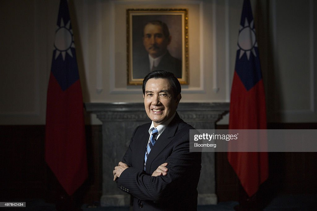 <a gi-track='captionPersonalityLinkClicked' href=/galleries/search?phrase=Ma+Ying-jeou&family=editorial&specificpeople=539998 ng-click='$event.stopPropagation()'>Ma Ying-jeou</a>, Taiwan's president, poses for a photograph prior to an interview at the presidential palace in Taipei, Taiwan, on Thursday, Nov. 19, 2015. Ma is seeking tax breaks for Taiwan's companies to encourage them to boost wages, helping address income stagnation that's undermined support for his policy of deepening economic ties with China. Photographer: Billy H.C. Kwok/Bloomberg via Getty Images