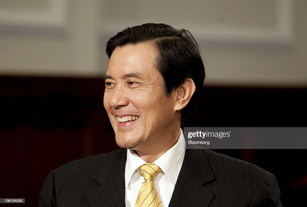 Ma Ying-jeou, Taiwan's president, smiles prior to an interview at the Presidential Palace in Taipei, Taiwan, on Friday, Dec. 22, 2011. Ma said his rapprochement with China will encourage other nations to strengthen trade with the island and make it less dependent on the mainland, rebutting opposition criticism that he's left the economy more vulnerable. Photographer: Ashley Pon/Bloomberg via Getty Images