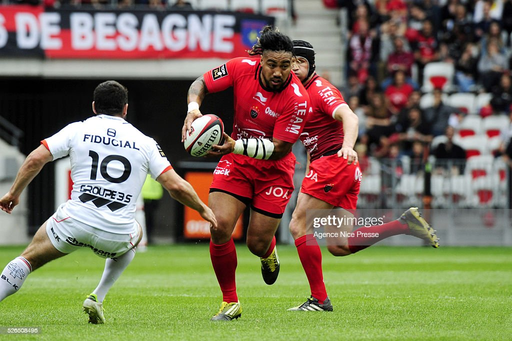 Ma'a NONU during the French Top 14 rugby union match between RC Toulon and Stade Toulousain ( Toulouse ) at Allianz Riviera on April 30, 2016 in Nice, France.