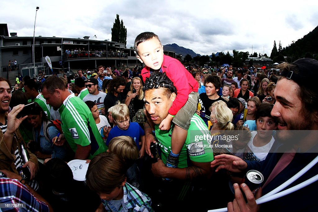 Ma'a Nonu of the Highlanders poses for a photo after the Super Rugby trial match between the Highlanders and the Blues at the Queenstown Recreation Ground on February 15, 2013 in Queenstown, New Zealand.